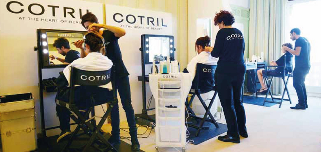 Beauty brands using Cantoni makeup stations