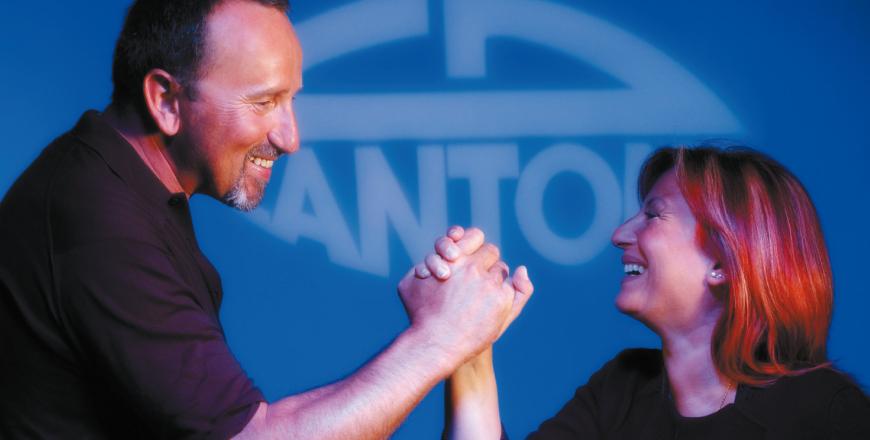 Ettore dall'Ara (R&D) and Anna Maria Cantoni - Chairwoman.