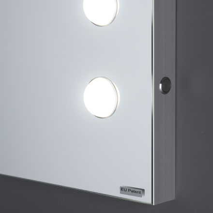 Makeup wall mounted mirror with lights Cantoni