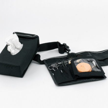 Brush belt for make-up artists.