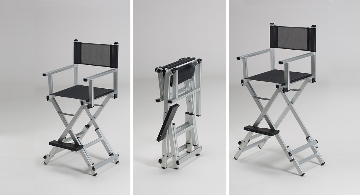 Transportable makeup artist chair