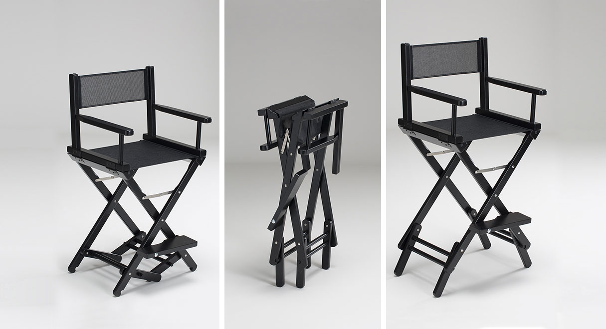 Portable makeup artist chair & The original makeup artist chair by Cantoni