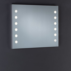 makeup wall mounted mirror with lights cantoni. Black Bedroom Furniture Sets. Home Design Ideas
