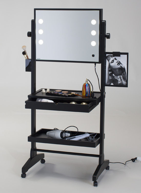 Rolling Makeup Table With Wheels Cantoni