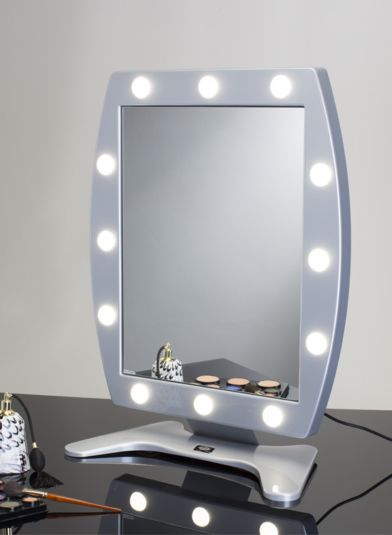 the original lighted makeup mirror by cantoni. Black Bedroom Furniture Sets. Home Design Ideas