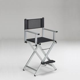 A Makeup Chair In Aluminium