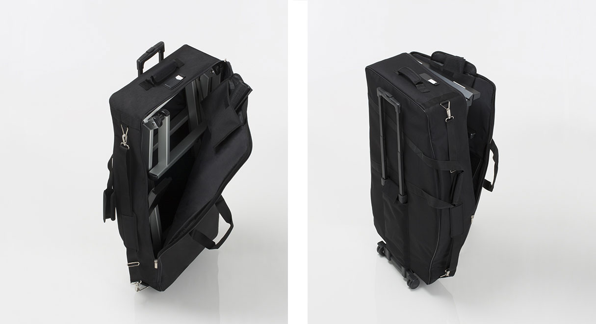 Trolley travel bag for makeup chair