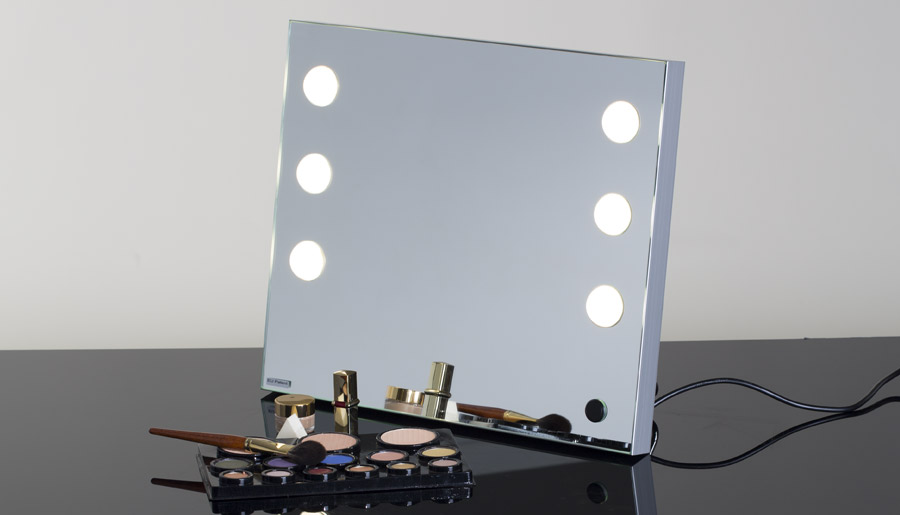 the new lighted tabletop vanity mirror is mde cantoni. Black Bedroom Furniture Sets. Home Design Ideas