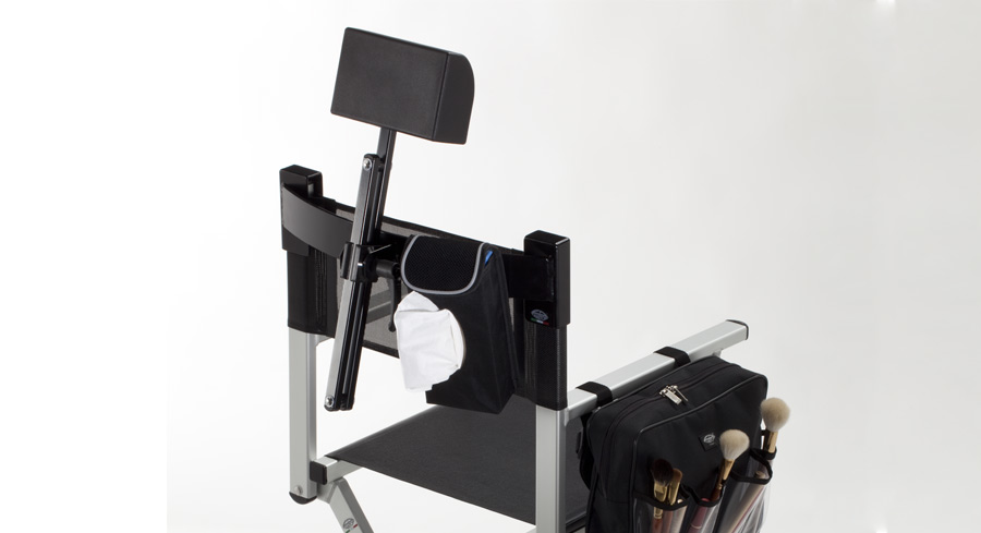 The make-up chair with a removable and adjustable headrest