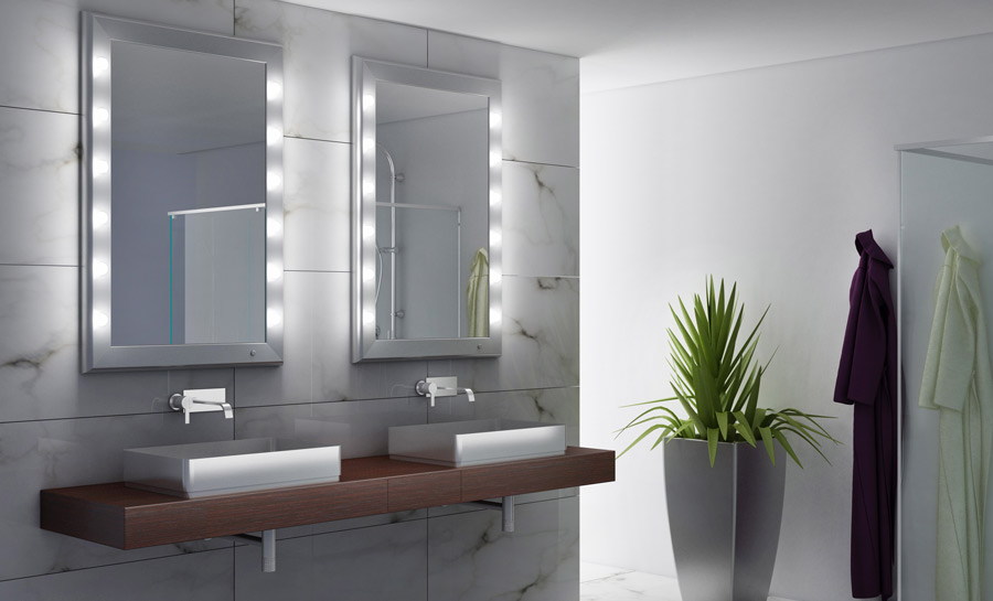 . What is the best light for the bathroom mirror