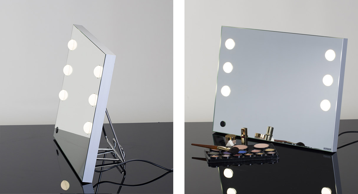 MDE lighted makeup mirror